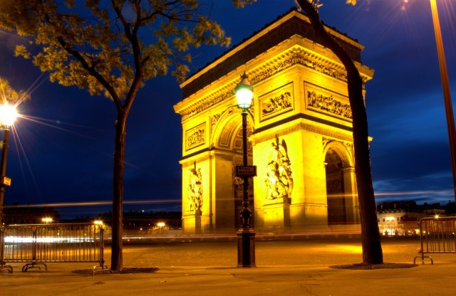 Arc de Triomphe Paris am Morgen