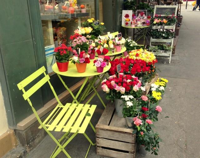 Blumengeschäft in Paris