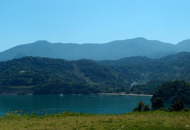 Bucht an der Küste Brasiliens