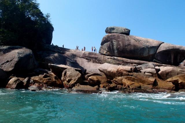 Stein in der Praia do Caxadaco