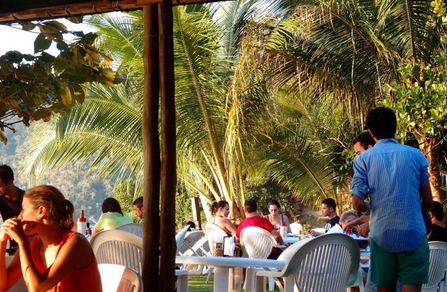 Restaurant in einer Bucht