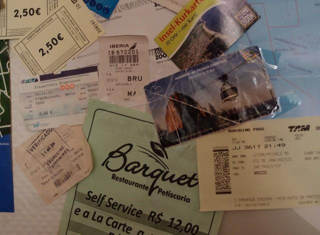 Tickets etc. auf der Weltkarte