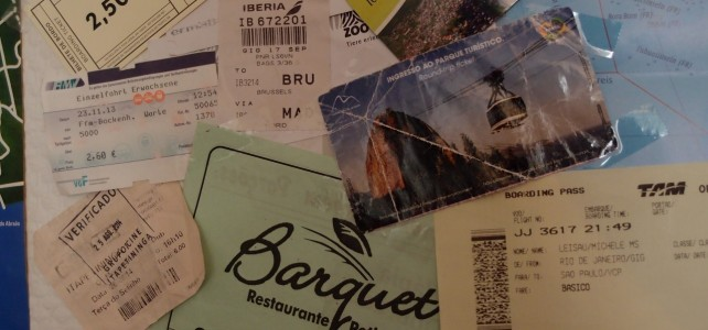 Tickets, Fahrscheine & Co. auf der Weltkarte