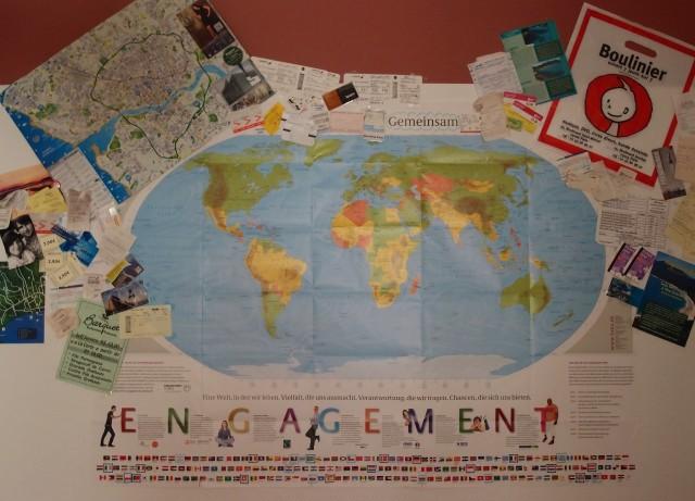 "Projekt ""Gemeinsam"", Weltkarte"