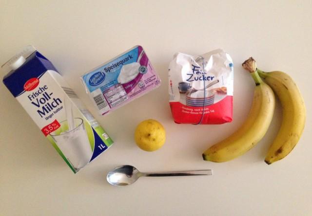 Zutaten Bananencreme